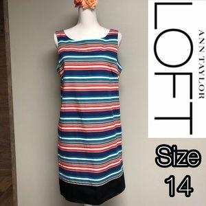 Ann Taylor LOFT colorful striped dress